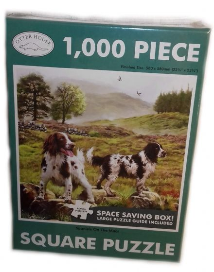 Spaniels on The Moor Square 1000 Piece Jigsaw